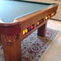 1937 Antique Pool Table