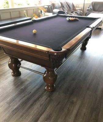 9' Wood Decorative Pool Table
