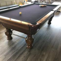 9' Wood Decorative Pool Table