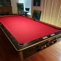 9' 2 Piece Slate Tournament Pool Table