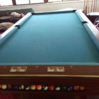 4x8 Slate Pool Table With Ball Return