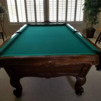 Brunswick Pool Table & Accessories Like New
